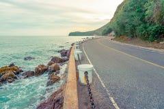 Die Straße durch das Meer Stockbild
