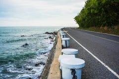 Die Straße durch das Meer Stockbilder