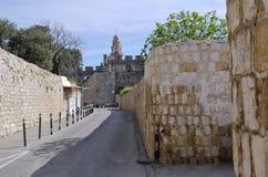 Die Straße im armenischen Viertel in Jerusalem, Israel Stockbild