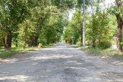 Die Straße im Park lizenzfreie stockbilder