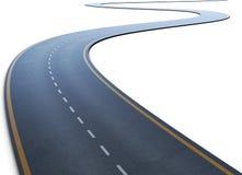 Die Straße mit einer Markierung, die zu einem Abstand geht stock abbildung