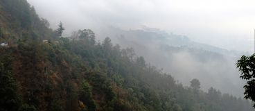 Die Straße nach Shimla Stockbilder