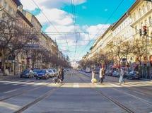 Die Straße in Ungarn Stockfotografie