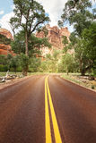 Die Straße in Utah, USA Lizenzfreie Stockfotografie