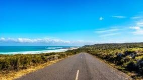 Die Straße vom Kap-Punkt zum Kap der Guten Hoffnung Stockbilder