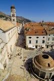 Die Straße von Dubrovnik lizenzfreies stockbild