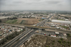 Die Straße von einer Vogelperspektive Stockfotos