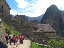Die Straße von Eingang Machu Picchu zu den Standortanziehungskräften Lizenzfreies Stockfoto