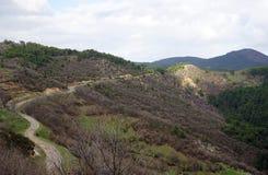 Die Straße zum Berg Lizenzfreies Stockfoto