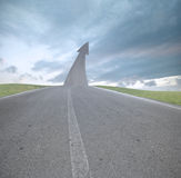 Die Straße zum Erfolg Stockbild