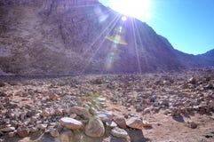Die Straße zum heiligen Berg Sinai Lizenzfreie Stockfotos