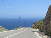 Die Straße zum Meer Stockbilder