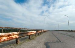 Die Straße zur Geisterstadt von Pripyat Lizenzfreie Stockfotos