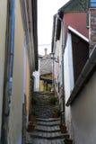 Die Straßen der touristischen Stadt von Szentendre mit Shops und Restaurants Lizenzfreie Stockfotografie