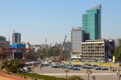 Die Straßen von Addis Ababa Ethiopia Stockfoto