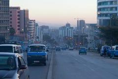 Die Straßen von Addis Ababa Ethiopia Lizenzfreies Stockbild