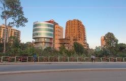 Die Straßen von Addis Ababa Ethiopia Lizenzfreies Stockfoto