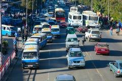 Die Straßen von Addis Ababa Ethiopia Lizenzfreie Stockfotos