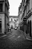 Die Straßen von altem Prag. Stockbild