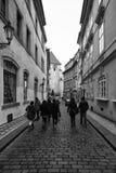 Die Straßen von altem Prag Lizenzfreies Stockbild