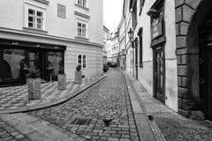Die Straßen von altem Prag Stockbild