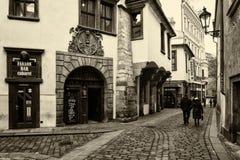 Die Straßen von altem Prag Stockbilder