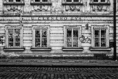 Die Straßen von altem Prag. Souvenirladen. Stockbilder