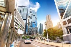 Die Straßen von Hong Kong Stockbild