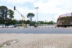 Die Straßen von Johannesburg, an einem Schnitt Stockfoto