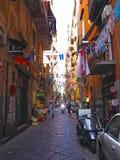 Die Straßen von Neapel Stockfotografie