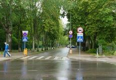 Die Straßen von Palanga-Stadt in Litauen lizenzfreie stockbilder