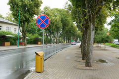 Die Straßen von Palanga-Stadt in Litauen stockbild