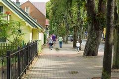 Die Straßen von Palanga-Stadt in Litauen stockfotografie