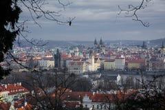 Die Straßen von Prag Stockbild