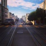 die Straßen von San Francisco Stockfotos