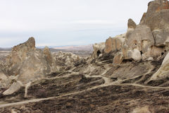 Die Straßen zwischen den Felsen Stockfotos