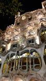 Die Straßenfassade der Casa Batllo in Barcelona, Catalonial, Spanien lizenzfreies stockbild