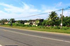 Die Straßenhäuser, Bezirk Koggala Stockbilder