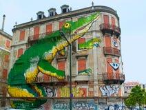 Die Straßenkunst Stockbild