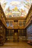 Die Strahov-Bibliothek in Prag Lizenzfreies Stockfoto