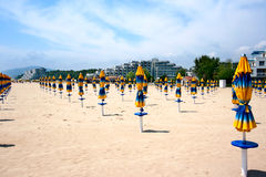 Die Strandurlaubsortreiseziele in Bulgarien Albena Stockbild
