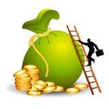 Die Strichleiter zum Finanzerfolg Stockbild