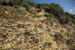 Die Struktur der Felsen Lizenzfreie Stockbilder