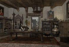Die Studie des Alchemisten lizenzfreie abbildung