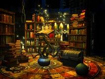 Die Studie des Zauberers lizenzfreie abbildung