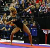 Die Superstars von Gymnastik stockbild