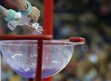 Die Superstars von Gymnastik lizenzfreies stockfoto