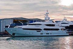 Die Superyacht Stockfoto