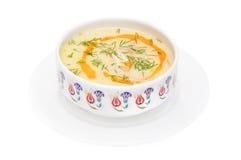 Die Suppe in der Schüssel Stockbild