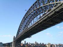 Die Sydney-Hafen-Brücke stockfotografie